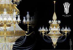 Large Chandeliers, Crystal Chandeliers, Swarovski, Led, Light Decorations, Luster, Lighting Design, Glass Vase, Decorative Lighting