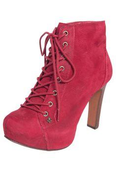 5ab3e2cc6 Ankle Boot Cravo e Canela Amarração Vermelha - Compre Agora