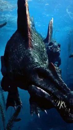 #dinossauros #dinosaur #repteis Jurassic Movies, Jurassic Park, Fantasy Words, Fantasy Art, Sea Dinosaurs, Guerra Anime, Scary Wallpaper, Dinosaur Wallpaper, Extinct Animals