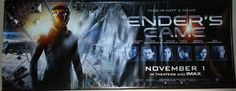 "Ender's Game Banner (Huge Movie Promotional Theater Poster, Harrison Ford, Ben Kingsley, ""This is Not a Game"")"