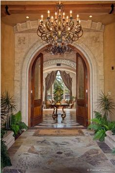 elegant Mediterranean entry.... #home For guide + advice on lifestyle, visit www.thatdiary.com