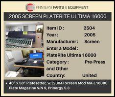 Press Machine, Printer, The Unit, Printers
