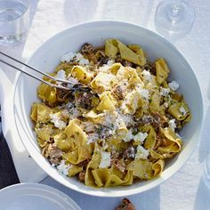 Fresh Pappardelle with Sausage, Fennel and Ricotta | Williams-Sonoma