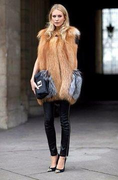 Меховые жилеты - стильно и тепло