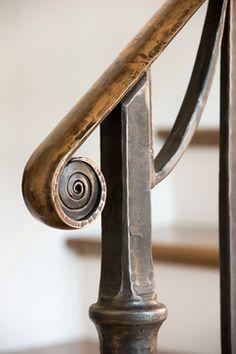 Wrought iron and bronze Railing, by Maynard Studios