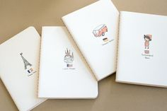 Adorable city notebooks