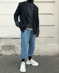 Man style Street dresscode Fashion Guys, Urban Fashion Women, Best Mens Fashion, Mens Fashion Suits, Men's Fashion, Fashion Menswear, Fashion Ideas, Hipster Fashion, Fashion Vintage