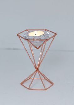 Tealight Up My Life Votive Candle Holder. Add a dash of delight to your abode with this geometric votive! #gold #prom #modcloth