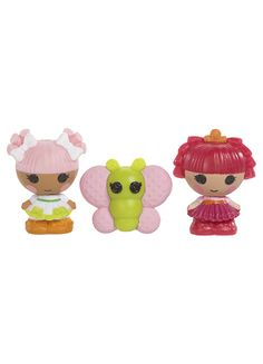 Your favorite Lalaloopsy characters are now sew tiny! Collect them all!  Every character is different. Totally collectible! Cute and as small as a button. 3 per pack. Original characters are now TINY!