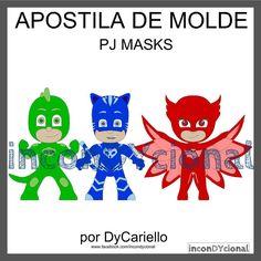 >> Apostila digital de moldes PJ MASKS [conforme imagem], para ser feito em feltro/tecido.  >> Vem com os personagens que estão na imagem! Nesta mesma posição! http://incondycional.iluria.com/pd-415650-apostila-digital-de-moldes-pj-masks.html?ct&p=1&s=1