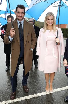 David Gandy and Amanda Holden arrive during the visit of Camilla Duchess Of Cornwall to Battersea Dogs and Cats Home on February 1 2017 in Old...