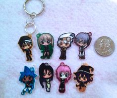 Soul Eater Chibi Charm Keychain or Phonecharm