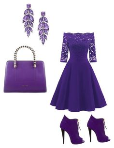 """Purple perfection"" by hudsongenesis on Polyvore featuring Giuseppe Zanotti and Bulgari"
