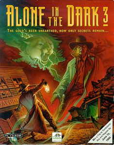 Alone in the Dark 3 DOS Front Cover (1995) #classicpcgaming #retrogaming