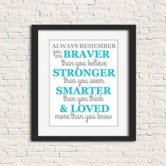 Always Remember Nursery Quote, Grey and Turquoise, Printable Nursery Art, Baby Room Decor, Gender Neutral Baby Decor, Digital Download Baby Room Decor, Nursery Decor, Nursery Ideas, Nursery Canvas Art, Elephant Canvas, Remember Quotes, Nursery Quotes, Always Remember You, Gender Neutral Baby