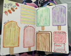I scream, you scream, we all scream for ice cream! #bulletjournal #bujo #pastel #summer