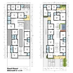 "50 Likes, 1 Comments - @idedenahrumah on Instagram: ""Guest House - alternatif 2 : 2 lantai. Salah satu klien kami inhin mengubah rumah lama peninggalan…"""