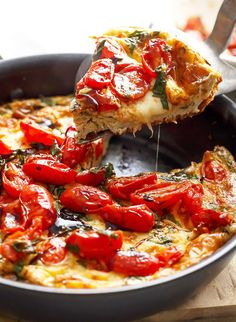 11. Caprese Frittata #lowcarb #breakfast #recipes http://greatist.com/eat/low-carb-recipes-easy-and-delicious-breakfast-recipes