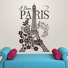 20 tips will help you improve the environment in your bedroom . Paris Room Decor, Paris Rooms, Paris Bedroom, Paris Wall Art, Paris Theme, Eiffel Tower Wall Decal, Cool Kids Bedrooms, Kids Rooms, I Love Paris