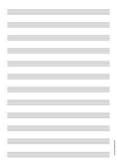 Feuille vierge pour port e de piano imprimer musique for Feuille de piano robe de mariage