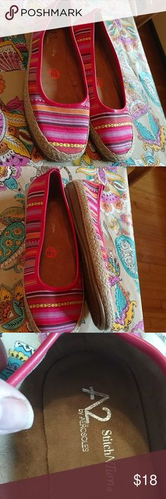 Nwt aerosoles sz 8-1/2 espadrilles Nwt a2 by aerosoles espadrilles . Well made with great inside padding. Pink purple yellow and orange.  Sz 8-1/2 AEROSOLES Shoes Espadrilles