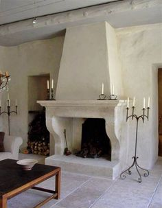 If you are looking to give your room a focal point or something to highlight it, look no further than the fireplace mantel that's already there. Many tend to leave their fireplace mantels bar… Stucco Fireplace, Cottage Fireplace, Limestone Fireplace, Home Fireplace, Living Room With Fireplace, Fireplace Surrounds, Fireplace Design, Fireplace Mantels, Mantles