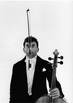 Stunning Portraits of French Cellist Maurice Baquet with His Cello in the 1950s