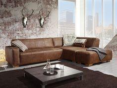 Ledercouch braun wohnzimmer  Big Sofa Cabana 304x140 cm Braun Vintage Look by Ultsch | Chunky ...