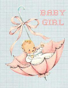 Juffie's ansichtkaart - Baby Girl
