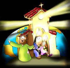 Blog de católicos: Imagenes católicas para niños (Cuaresma, adviento, Navidad, etc...) Christian Cartoons, King Of Kings, Bible Stories, Disney Pixar, Bowser, Sonic The Hedgehog, Images, San, Superhero