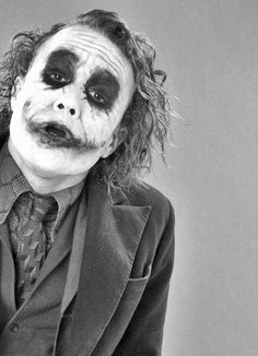 Heath Ledger as Joker in 'The Dark Knight.' Is it wrong that I think he looks kinda sexy here?