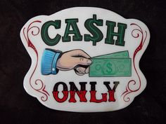 By Bob Ashbaugh Tattoo Signs, Tattoo You, Painted Letters, Hand Painted Signs, Tattoo Shop Decor, Tattoo Cafe, Funny Tattoos, Tattoo Humor, Different Lettering Styles