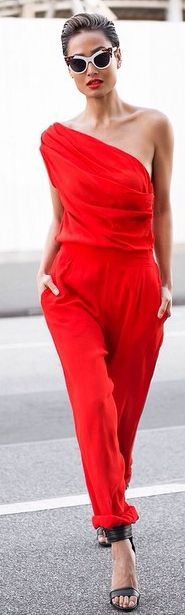 Red is not my color but this All Red Outfit Idea by Micah Gianneli might change me.