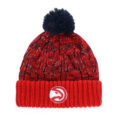 c57a9921871 OTS NBA Atlanta Hawks Female Brilyn Cuff Knit Cap with Pom