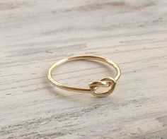 Knot ring gold ring friendship ring above knuckle ring by Avnis-$15