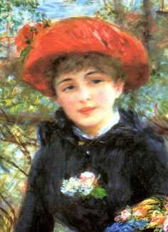 Two Sisters On The Terrace Detail - Pierre-Auguste Renoir, commonly known as Auguste Renoir, was a French artist who was a leading painter in the development of the Impressionist style.  Born: February 25, 1841 - Died: December 3, 1919,