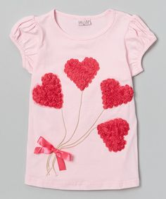 Wenchoice Pink Heart Balloons Tee - Infant & Girls | zulily
