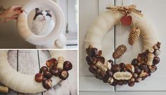 Make DIY chestnut crafts for decorating home in Fall/ Autumn.