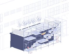 Level Up street pavilion provides multi-level hang-out space for Rijeka Define Architecture, Architecture Concept Drawings, Pavilion Architecture, Cultural Architecture, Architecture Student, Architecture Design, Urban Furniture, Level Up, Urban Planning