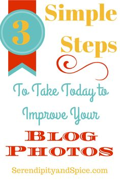 These 3 simple steps not only improved my blog photos but made many of my pinterest pins go viral.  It's all about the photos on Pinterest!