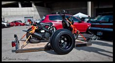stanced trailer and a stanced scooter