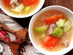 Healthy Silk Gourd Tomato Soup