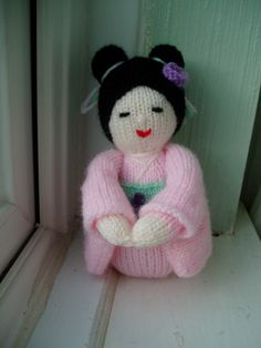 Kokeshi Doll Free Knitting Pattern
