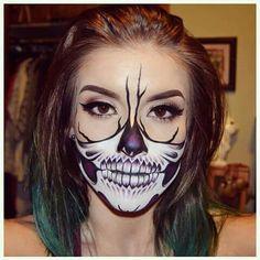 Dope skull mask #Halloween makeup.