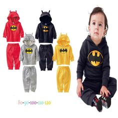 Cheap toddler boys clothing, Buy Quality boys clothing directly from China clothes set Suppliers: Autumn 2015 Batman Gray Sports Costumes Childrens Childhood Fantasy Boy Jacket Pants Baby Clothes Sets Toddler Boys Clothing Cute Batman, Batman And Batgirl, Baby Batman, Toddler Boy Outfits, Toddler Boys, Girl Outfits, Baby Boys, Baby Boy Clothing Sets, Kids Suits