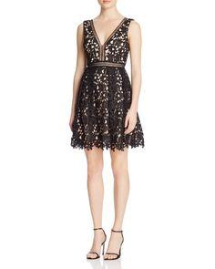 AQUA Lace Empire Dress