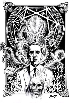 'Lovecraft Cthulhu' Art Print by Cthulhu Tattoo, Cthulhu Art, Call Of Cthulhu Rpg, Hp Lovecraft, Lovecraft Cthulhu, Arte Horror, Horror Art, Necronomicon Lovecraft, Science Fiction