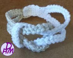 Hand Dyed Crochet Tube Color block Knot Bracelet by NikalaJayne