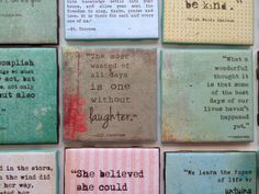"""Quote Art/Coaster (4x4)  """"The most wasted of all days is one without laughter""""  -E. E. Cummings"""
