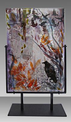 Memories, kiln fired fused glass by Alice Benvie Gebhart